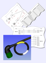 Electrical harness design software